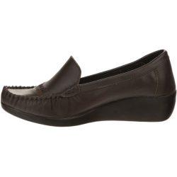 کفش چرم طبی زنانه آفتاب قهوه ای مدل 005