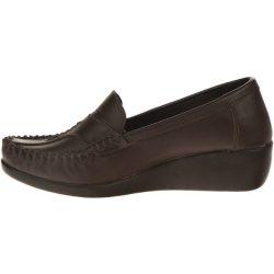کفش چرم طبی زنانه آفتاب قهوه ای مدل001