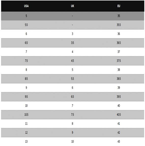 جدول کفش-اسکیچرز-زنانه