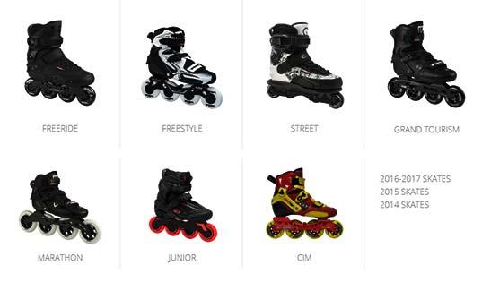 انواع اسکیت کفشی