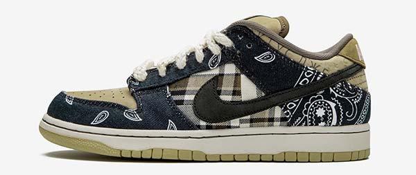 بهترین کفش دنیا تراویس اسکات ایکس نایک اس بی دانک لو