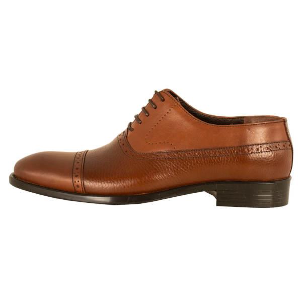 کفش مردانه پارینه چرم کد SHO196 قهوه ای رنگ